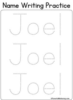 Custom Printables - My Name (love using this one ...