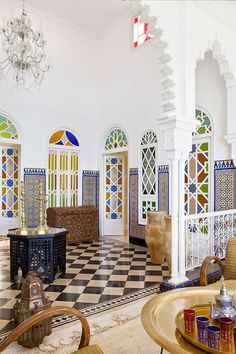 A special home in Tangiers, Morocco. #InteriorDesign #Decor #Luxury #Luxe #Moroccan #Eclectic.