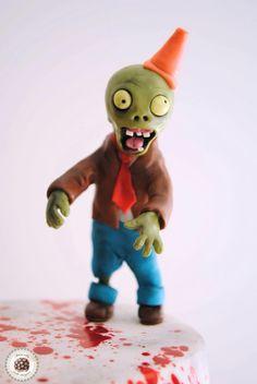 Zombie blood Birthday Cake  #plantsvszombies #zombies #zombiecake #cake #tarta #tartaspersonalizadas #mericakes #chocolate #maracuyá #fondant #dexter #bloodcake #blood #chocolateplastico #barcelona #tartaspersonalizadas #tartasdecoradas #cakedesigner #frikicake #birthdaycake