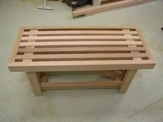 Small Woodworking Projects Bench/Table -- 8 hours -- Can$ 115.00 -- Beginner #WoodworkingBench #WoodBenchOutdoor