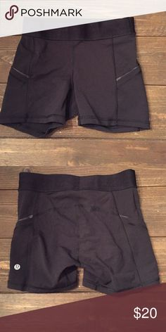 Lululemon shorts Size 4 Lululemon shorts. They are a little bit longer than other shorts which is why I bought them. They are a little too snug for me, I took the tags off but only have worn them once when I tried them on. lululemon athletica Shorts