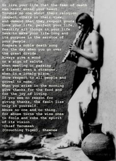 What an amazing life principle\s to ponder about!The Chief Tecumseh poem that Maynard read on the Joe Rogan Experience Native American Wisdom, Native American History, Native American Indians, Native Americans, Photo Quotes, Before Us, Love Your Life, In This World, Quotes