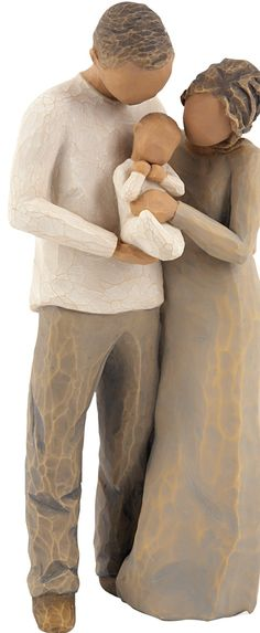 """I want this one. Willow Tree figurine, """"We Are Three"""" Sentiment on enclosed card reads: \""""It used to be just you and me, now we three are a family."""