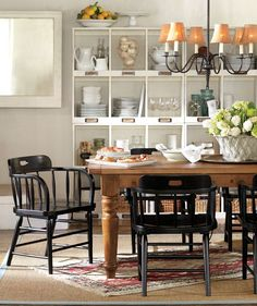 Pairing modern chairs with a rustic table | One July Living