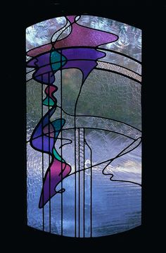 Abstract stained glass window Texture and Color you can fall right into!