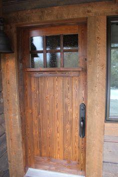 Vertical Grain Douglas Fir Flat Two Panel Square Top Wood Door Styles Pin