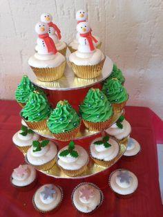 Christmas Cupcakes Tower
