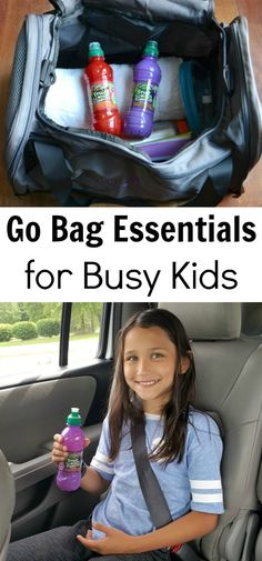 Great list of items to pack in a go bag for kids who are active! Includes practical items to make daily life easier, no matter how busy life gets. via @wondermomwannab