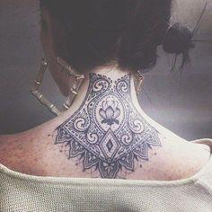 Resultado de imagem para tatuagem ornamentos nuca