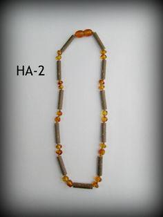 Hazelwood & Baltic Amber Teething Necklace ~ HA-2 ~ $18