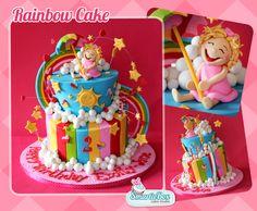 Children's Birthday Cakes - Rainbow Cake-Love it!