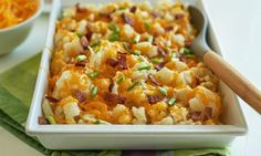 Recipe: Cheesy Low-Carb Cauliflower Bake | MyFitnessPal