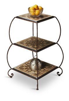 Found it at Wayfair - Metalworks Etagere in Textured Copper Stone Veneer, Wall Shelves, Shelf, Forged Steel, Take Me Home, New Wall, Joss And Main, Decoration, Steel Frame