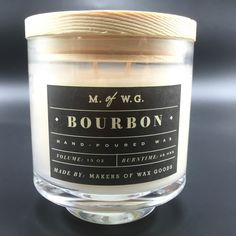 Makers of Wax Goods Bourbon Scented Candle Aromatic Two Wicks #MakersofWaxGoods