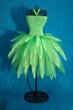 Tinker Bell Tutu Dress   LOVE the way the tip are on this one but it would only look good as tink