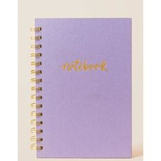 Lavender Leatherette Spiral Notebook ($15) ❤ liked on Polyvore featuring home, home decor and stationery