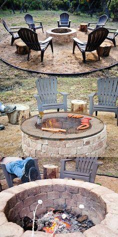 Pergola Patio Dining - - Backyard Pergola With Roof - Pergola Terrasse Plante - - Garden Fire Pit, Fire Pit Backyard, Backyard Patio, Backyard Ideas, Backyard Seating, Firepit Ideas, Patio Ideas, Backyard Fireplace, Garden Ideas