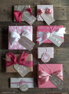 Sweet Vintage Valentine's Day Gift Tags Just for You {Lia Griffith}