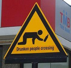 Attenzione persone ubriache
