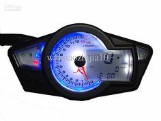 motorcycle gauges | ... digital odometer speedometer Motorcycle Tachometer Gauges Black EX6