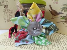 Fabric Flower 5 Petal Brooch  £5.00