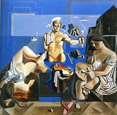 Dali, Salvador (1904-1989) - Neo-Cubist Academy (Composition with Three Figures) 1926 Museu de Montserrat Spain