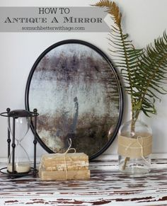 Fake a time-tested finish on a brand new mirror with a special stripping solution. Get the tutorial at So Much Better With Age »  - GoodHousekeeping.com