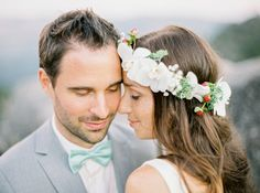 fresh floral #halo - photo by BrancoPrata - http://ruffledblog.com/porto-romantic-wedding-inspiration/