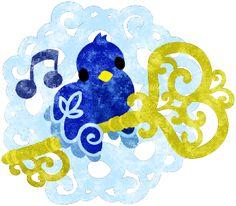 フリーのイラスト素材不思議な模様の可愛い小鳥と不思議な鍵  Free Illustration The cute little bird of mysterious design   http://ift.tt/2jgBrzA