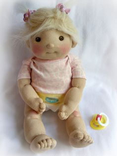 PDF PATTERN Sock Baby Doll by LaliDolls on Etsy