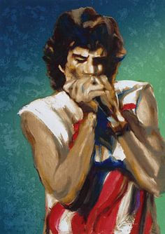 Today I feel...Like a rock star! Mick Jagger by Ronnie Wood