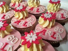 Cupcake 60 jaar! #cupcake #birthday #feest #party #sweet