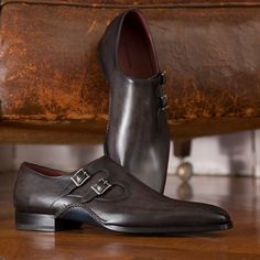 Introducing the Gael Grey. #DoubleMonk now available at   http://www.magnanni.com/shop/gael-grey