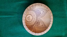 Om Henna Pyrography Decorated Beech Wood Bowl | FireOakStudio - Woodworking on ArtFire