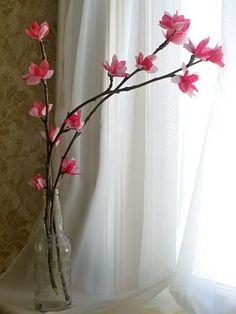 Tissue-paper plum blossom tutorial