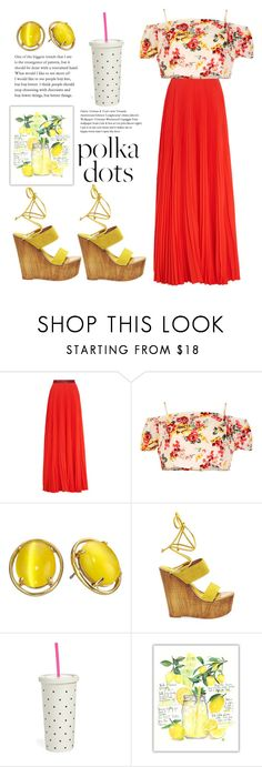 """""""Untitled #253"""" by esragulabi ❤ liked on Polyvore featuring Christopher Kane, Madam Rage, Kate Spade and Steve Madden"""