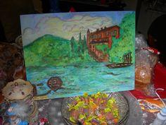 """""""Sogno d'amore sul lago: Silvio Pellico e Cristina Archinto Trivulzio"""" quasi ultimato... da completare al corso di pittura..."""