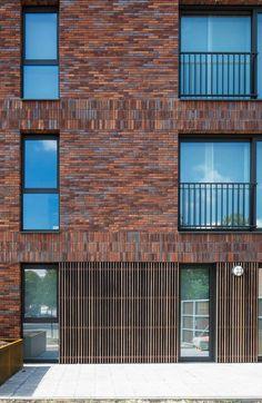 © Chak Lopez - Saint-Camillus / Stramien cvba Colour Architecture, Brick Architecture, Futuristic Architecture, Residential Architecture, Chinese Architecture, Architecture Office, Brick Design, Facade Design, Brick Building