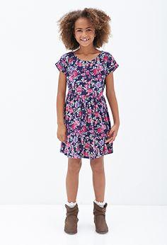 Cutout Crossback Floral Dress (Kids) | FOREVER21 girls - 2055880091