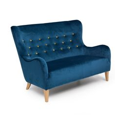Modrá dvoumístná pohovka Max Winzer Medina