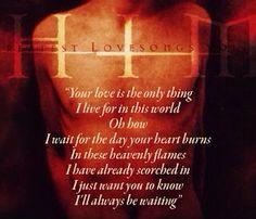 Beautiful lyrics from the first HIM album♥