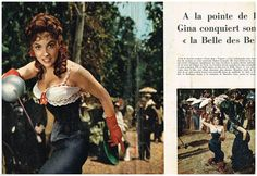 Coupure DE Presse Clipping 1955 4 Pages Gina Lollobrigida LA Belle DES Belles | eBay