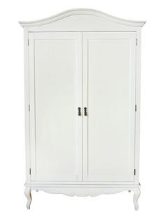 This stunning white wardrobe from our Elodie range is an extremely eye catching place to store all your clothes. Open the double doors and a large hanging area with a single shelf at the top is revealed! #PineWardrobe #BedroomFurniture