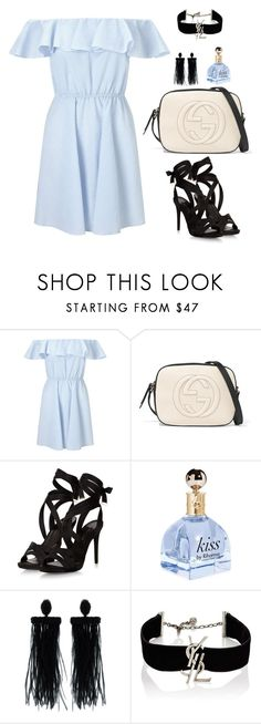 """""""Untitled #610"""" by hayleyl22 ❤ liked on Polyvore featuring Miss Selfridge, Gucci, Oscar de la Renta and Yves Saint Laurent"""