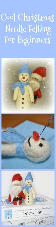 Christmas needle felting ideas.