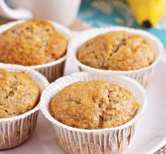 Joy Bauer Healthy Recipe From Joy Bauer's Food Cures Banana Almond Muffins Foods To Reduce Cholesterol, Healthy Cholesterol Levels, High Cholesterol, Joy Bauer Recipes, Almond Muffins, Snacks, Muffin Recipes, Healthy Recipes, Delicious Recipes