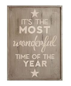 """Pottery Barn Vintage Christmas sign """"It's the MOST wonderful time of the year"""""""