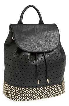 Expressions NYC Perforated Faux Leather Backpack available at #Nordstrom