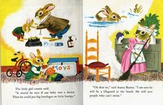 The book proceeds to query a host of other family members, each of whom have their own opinions about baby bunny's future. Description from blog.acton.org. I searched for this on bing.com/images