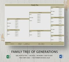 Free Family Tree Template Excel Best Of Simple Family Tree Template 25 Free Word Excel Pdf Family Tree Layout, Family Tree Maker, Family Trees, Family Tree Diagram, Family Tree Chart, Blank Family Tree Template, Create A Family Tree, Doctors Note Template, Pedigree Chart